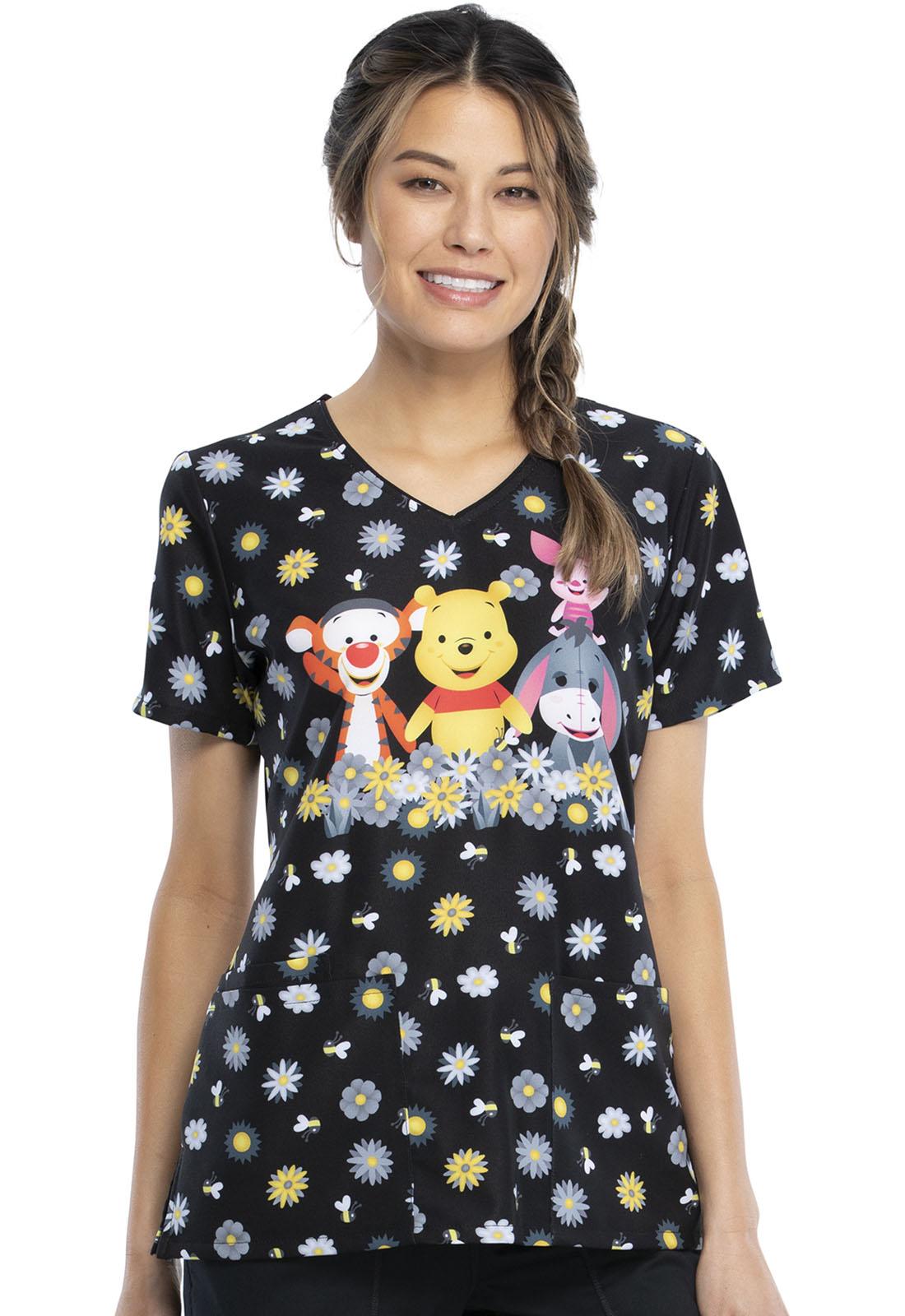 Cherokee Damen Schlupfkasack Sunshine Winnie Pooh, V-Neck