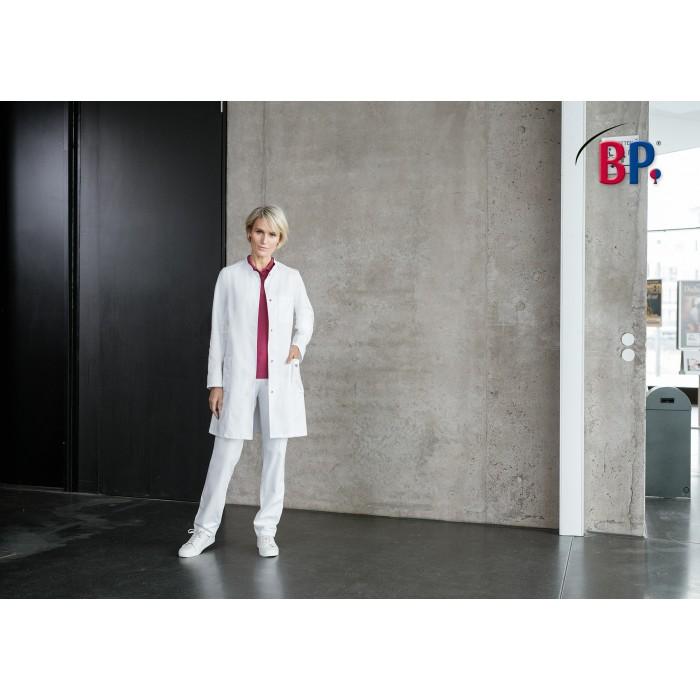 BP Damen  Arztkittel mit Stehkragen, weiß, 100%Baumwolle 205g/m²