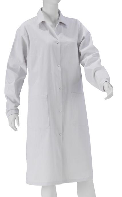 KOKOTT B-Ware Damen Laborkittel, 100% Baumwolle, Weiß