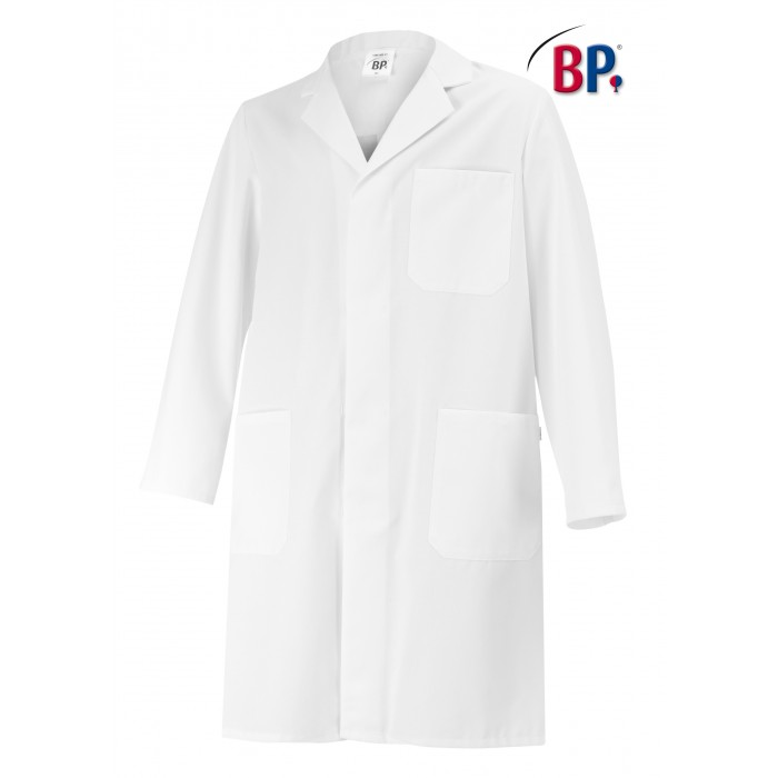 BP Unisex Kittel für Sie und Ihn, weiß, 100%Baumwolle, mit Rückenschlitz
