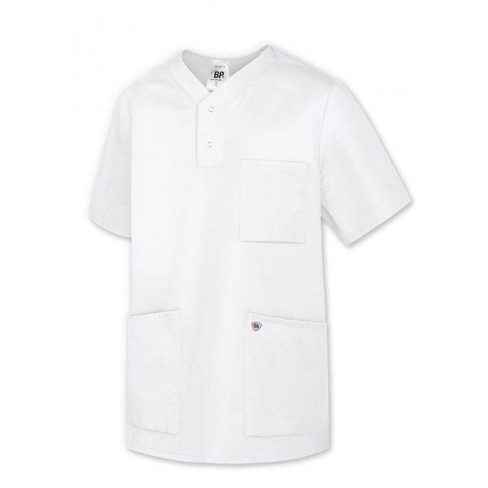 BP Damen Schlupfkasack, extra leicht, weiß, V-Ausschnitt