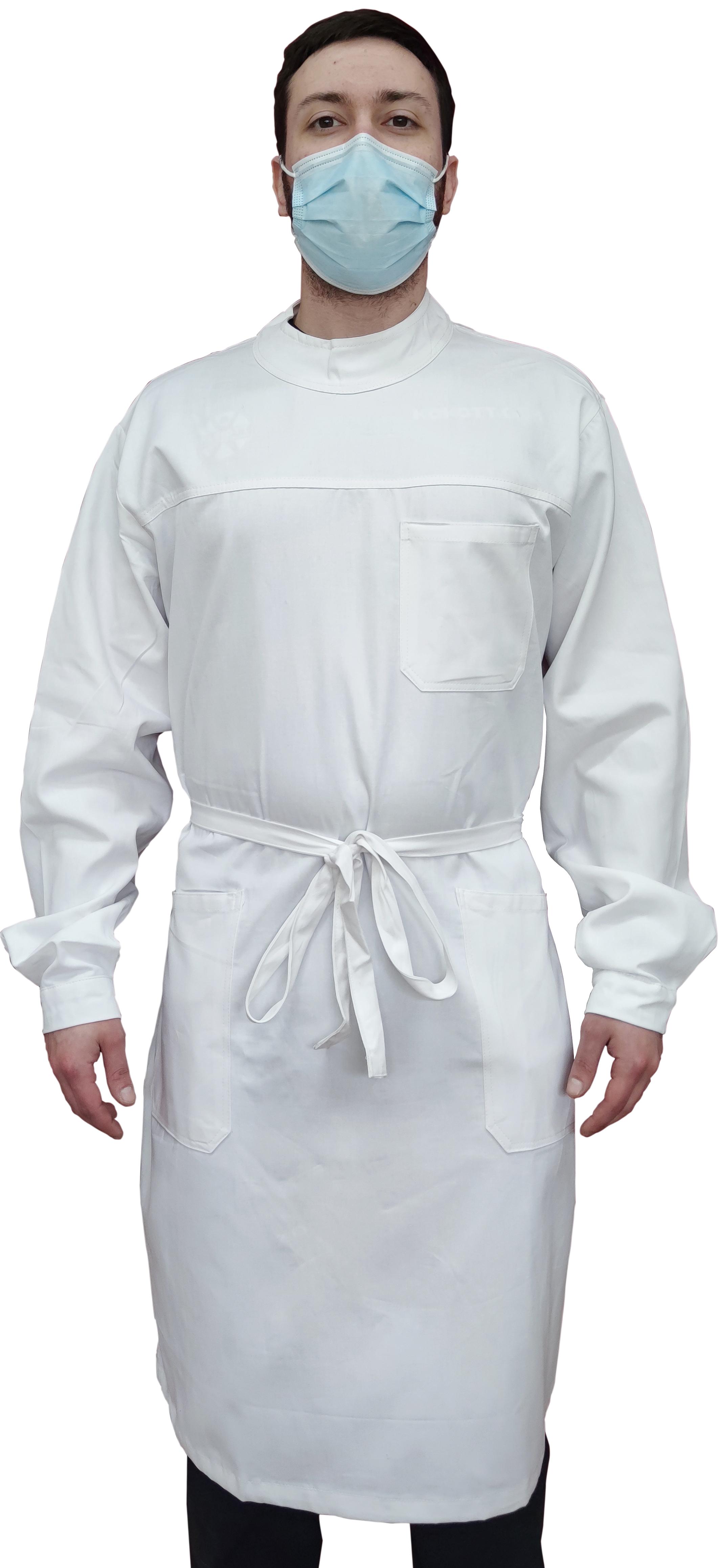 KOKOTT Zahntechniker- OP- und Laborkittel mit Rückenverschluss aus 100% Baumwolle