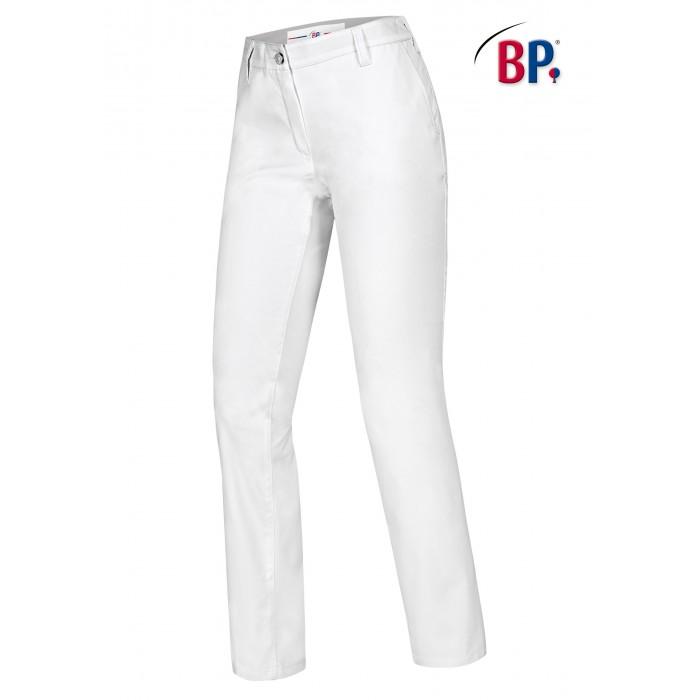 BP Damen Chinohose  mit Taschen, aus 100% Baumwolle, weiß