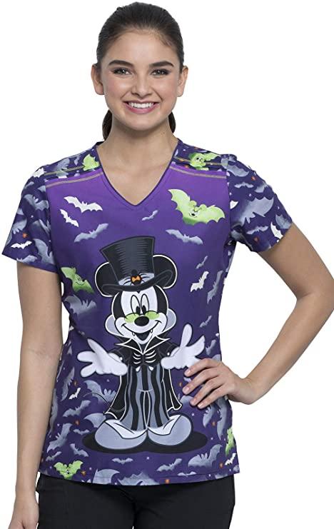 Cherokee Damen Schlupfkasack Mickey Vamp, lila fluoreszierend, V-Neck