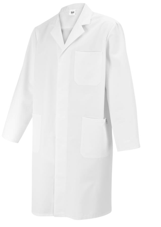 BP Herren Arztkittel mit Reverskragen, langarm, 100% Baumwolle, bequeme Passform